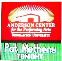 Shows I'll Never Forget: Pat Metheny, Oct, 20, 2010