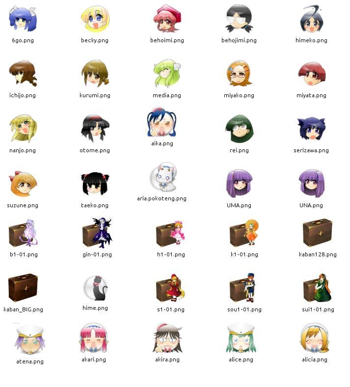 iconos anime: