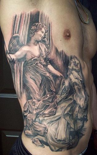 Ribs Angel tattoo