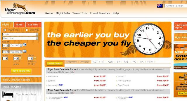 tiger online booking