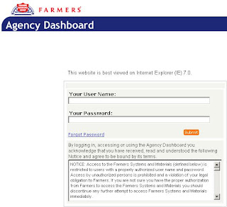 eAgent.FarmersInsurance.com, Farmers Insurance Login, Agent Dashboard