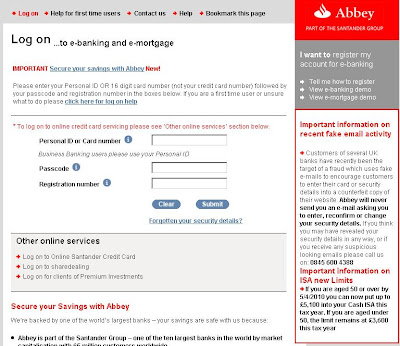 Abbey National Online Banking : www.abbey.com Internet Banking