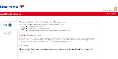 BankofAmerica.com/Activate - Bank of America Credit Card Activation