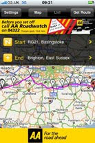 Using The AA's Classic Route Planner for UK