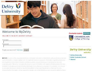 After login to MyDeVry Student Portal (my.devry.edu), student, teacher and parents can access educational information
