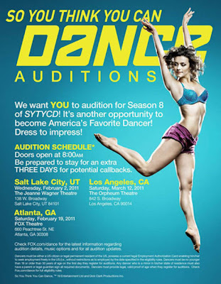 So You Think You Can Dance Season 8 Audition Dates announced