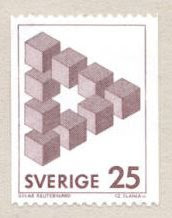 Postage Stamp, Hexagram impossible triangle