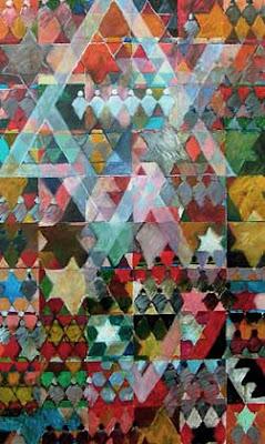 אמנות ישראלית מארג צבעוני של מגני דוד