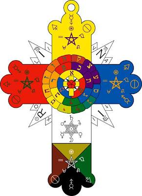 Hexagram on a Rose Cross