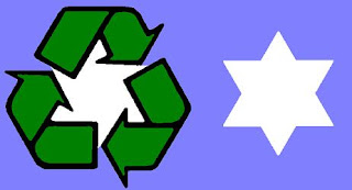 Recycle Symbol logo hexagram