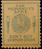 German Boycott Stamp Star of David