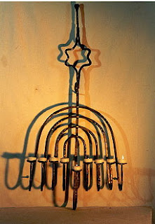 חנוכייה מגן דוד אמנות ישראלית