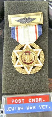 Eagle andsix pointed  Star medal