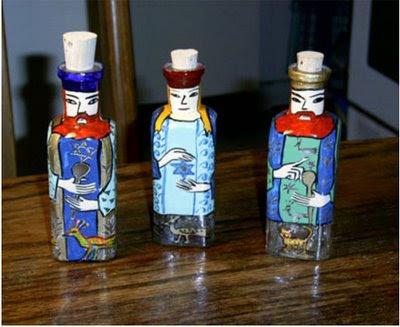 Israeli art+Bottles+magen-david