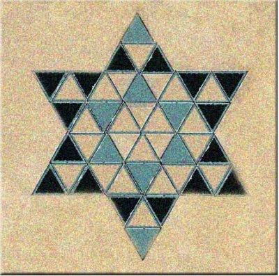 48 Triangles David Stars Photoshop