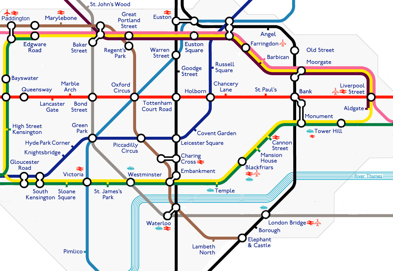 Reliable Index - Image - large print london tube map