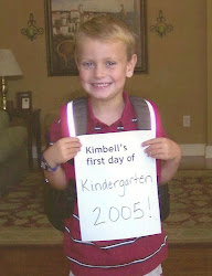 Kimbell's 1st day of school