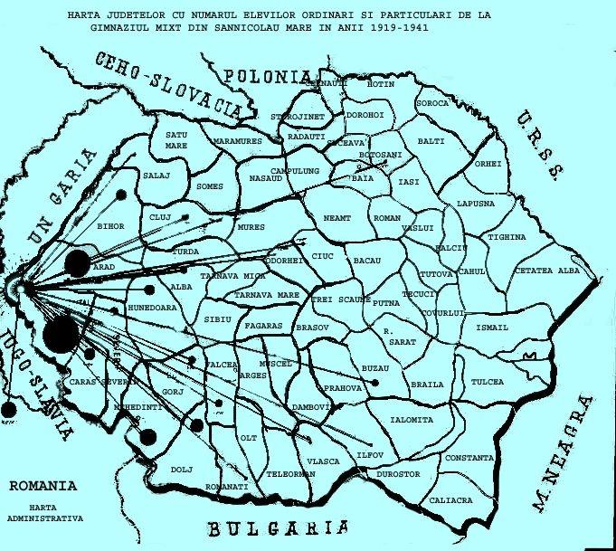 Harta Romaniei  1919-1941