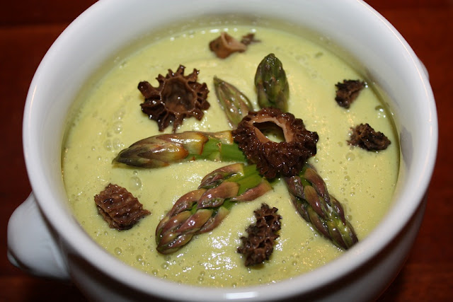 Vegan Epicurean: Cold Asparagus Soup with a hint of Dijon
