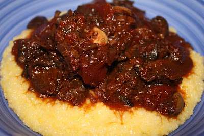 Vegan Epicurean: Mushroom Ragu over Soft Polenta