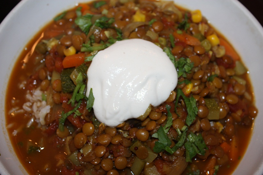 ... stew stew coconut curry lentil stew served over quinoa recipe yummly