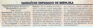 RECEITA DE SANDUÍCHE EMPANADO DE BERINJELA