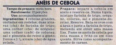 RECEITAS DE ANÉIS DE CEBOLA EMPANADOS