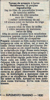 RECEITA DE FILÉ DE PEIXE AO MOLHO DE PICLES E ALCAPARRAS