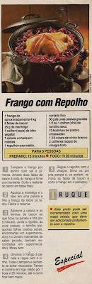 RECEITA DE FRANGO COM REPOLHO