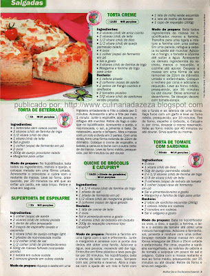 RECEITAS DE TORTAS SALGADAS