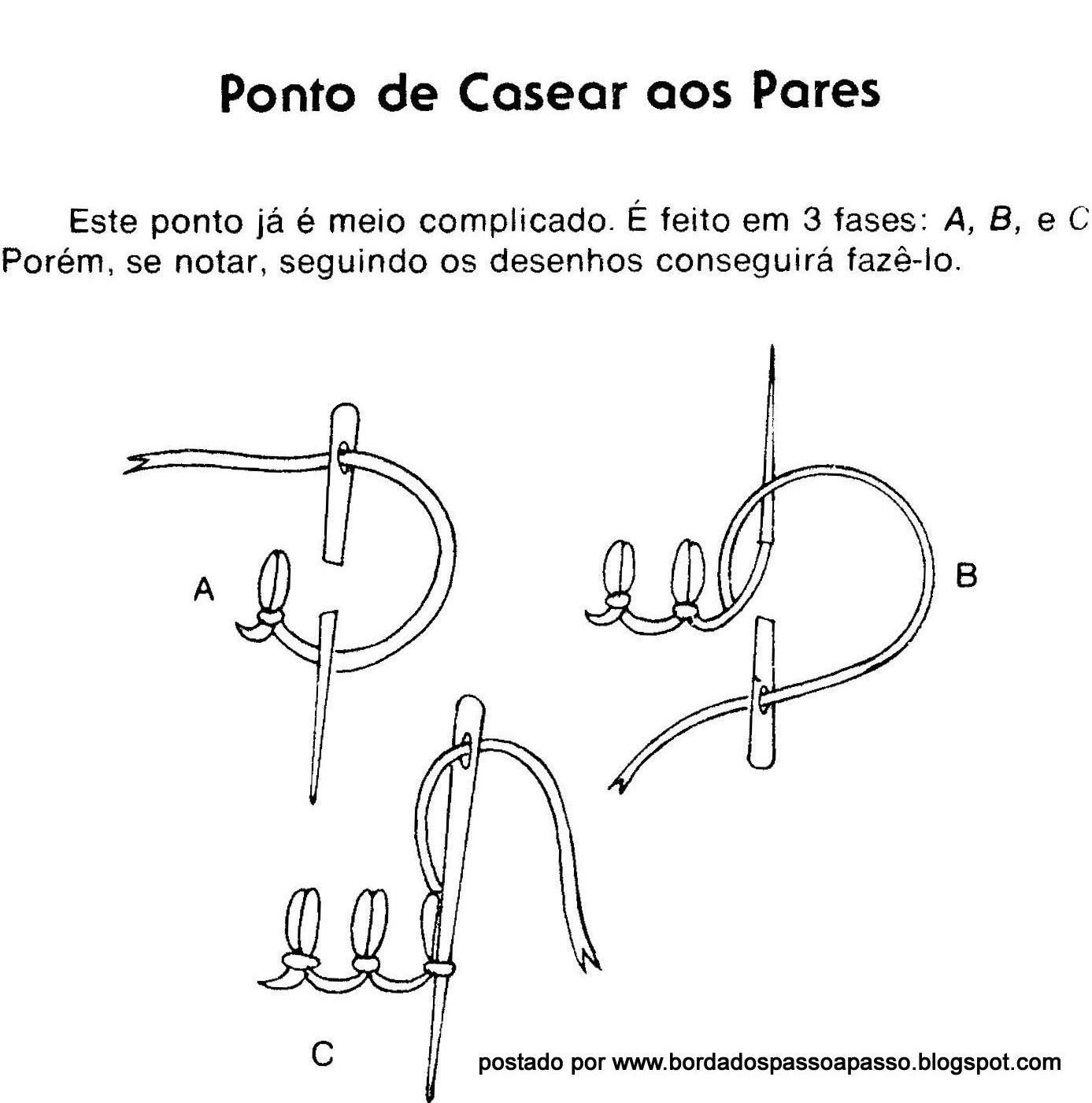 Favoritos BORDADOSBORDADOS: VARIAÇÕES DO PONTO DE CASEAR GN09
