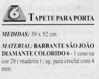 RECEITAS DE TAPETE EM CROCHE FILE
