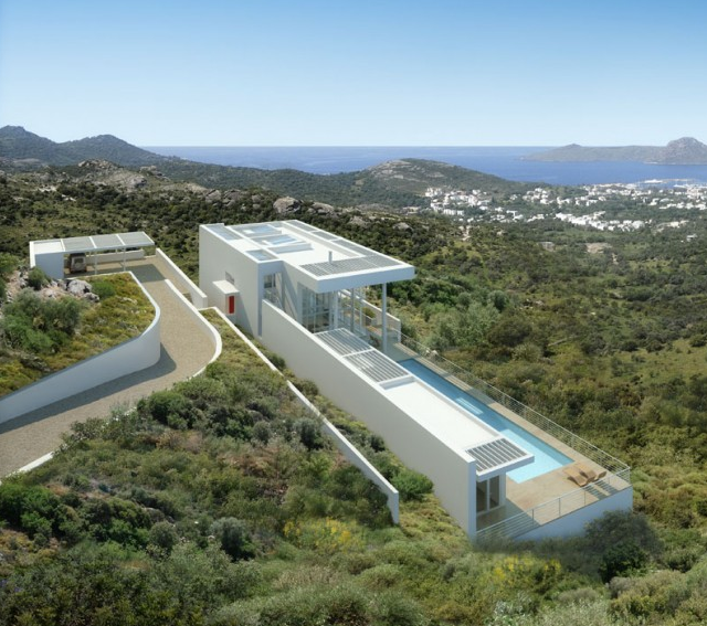 richard meier does modern architecture in turkey the bodrum houses if its hip its here - Richard Meier Homes