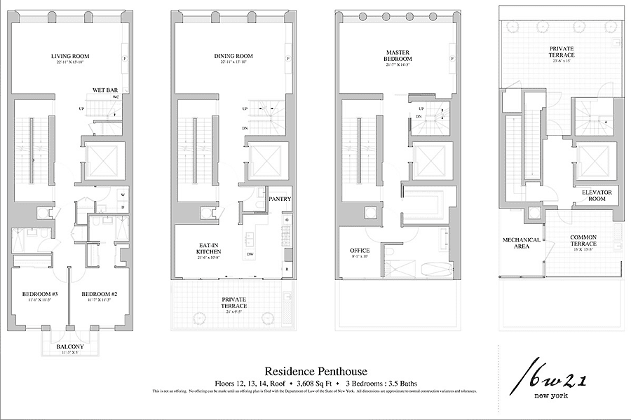New York Penthouse Floor Plan