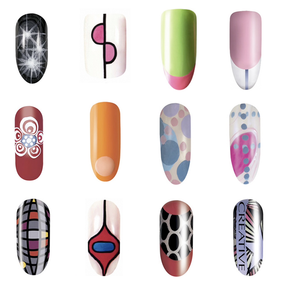 Nail art now this is finger painting cnd creative nail design
