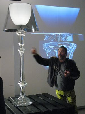 philippe starck lamps. Philippe Starck is shown below