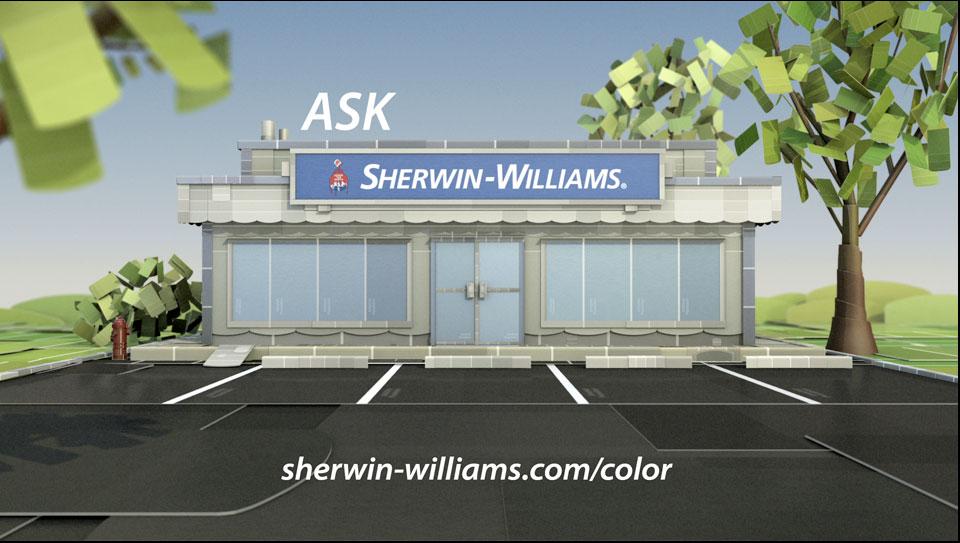 Sherwin Williams Cardbord Race Car