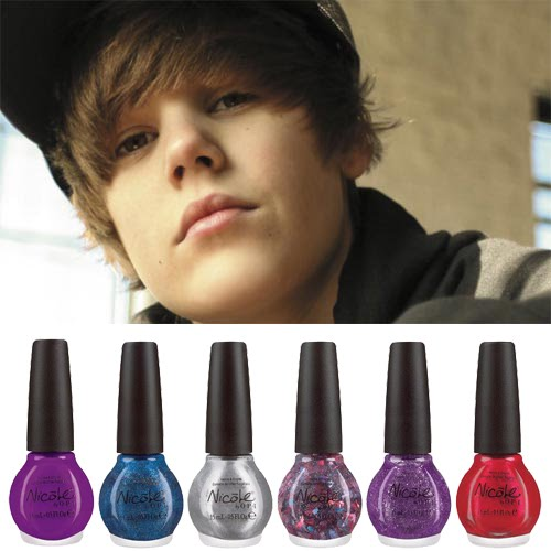 That's right, tween heartthrob Justin Bieber has collaborated with Opi's new