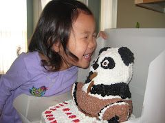 Lucy Kissing her Mao Cake