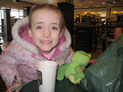 Mommy & Gracie Enjoy a Starbucks Moment