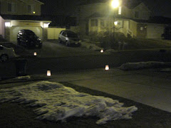 Neighborhood Candlelight Vigil for the Passing of America LaPointe 1/19/09