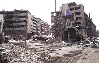 Un'immagine di Grbavica, sobborgo di Sarajevo (Foto di Stacey Wyzkowski)