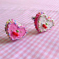 sweet cherry colourful rainbow rice heart cake ring from etsy