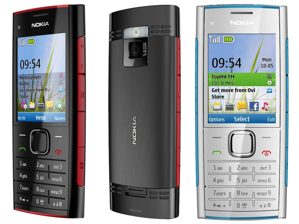 اخر اصدار فلاشة نوكيا X2-00 RM-618 فيرجن 8.35 Nokia-X2-00-Black-White-Blue-Red