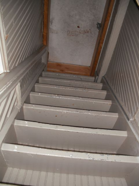 If you look closely this stairwell going up to the roof says Redrum on the door!! Spooky! : redrum door - pezcame.com