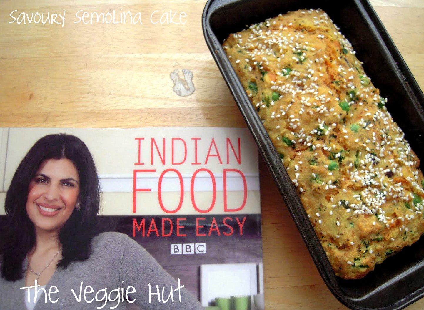 The veggie hut savoury semolina cake savoury semolina cake i tried this recipe from anjum anands book indian food made easy forumfinder Images