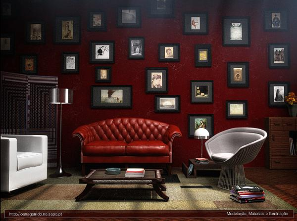 Dark Red Living Room Wall Color