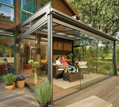 Modern outdoor glass patio rooms design 2011 glasoase by for Modern glass porch designs
