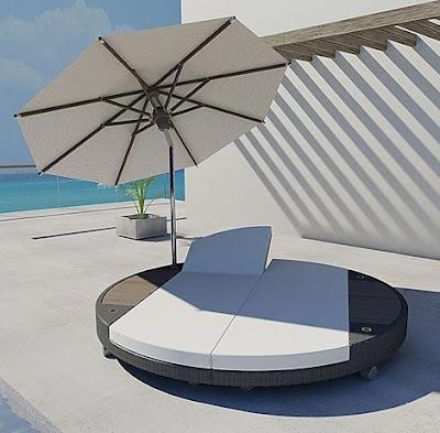 Brighton Beach Modern Island Sunbed 2011 Sunbed Lounger