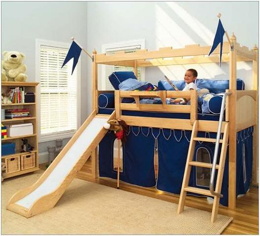 Kids Bunk Bed with Slide 528 x 479